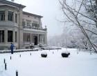 Die Villette einmal tief im Schnee