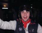 Marc in voller Skimontour. Man sieht es ihm gar nicht an, aber hier hat er den Helm schon 15 Stunden auf den Kopf!!