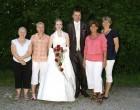 Das Brautpaar mit dem Vorstand der Frauen